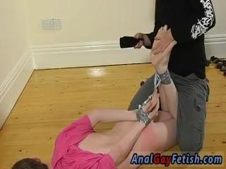 Cock going guys ass and straight boy banana