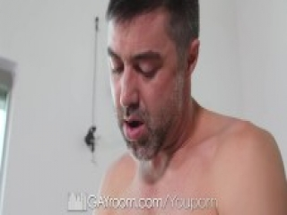 GayRoom Hairy ass massage toy play fuck