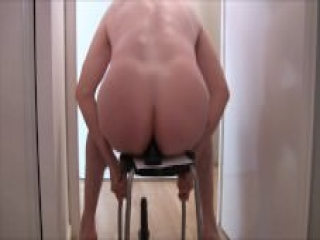 "gay man fucked with a 8"" (20 cm) dildo !"