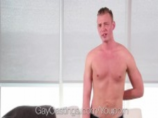 GayCastings Grayson Frost fuck and facial with casting agent