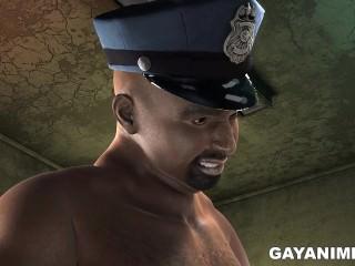 3D prisoner gets fucked by a black cop