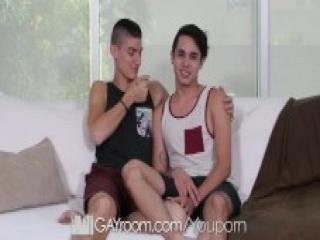GayRoom Big dick fuck with Ashton Heart & Aiden Ward