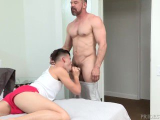 Thick Cock Daddy Caught Stepson Throwing a Party