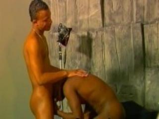 Gay Dude Enjoy Deep Throat Blowjob On Black Cock