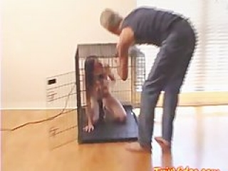 Girl in cage and Boy in cage