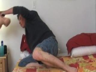 Skinny gay boy fucks the rubber pussy - VideoBoys